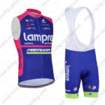 2016 Team Lampre MERIDA Cycling Sleeveless Vest Bib Kit Blue