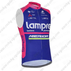 2016 Team Lampre MERIDA Cycling Sleeveless Vest Blue