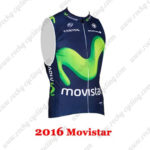 2016 Team Movistar Bicycle Sleeveless Vest Blue