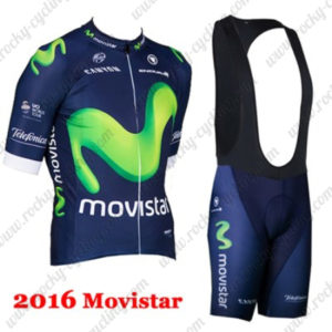 2016 Team Movistar Riding Bib Kit Blue