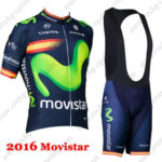 2016 Team Movistar Spain Cycle Bib Kit Blue