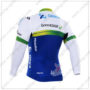 2016 Team ORICA GreenEDGE Bicycle Long Jersey Maillot White Blue