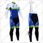 2016 Team ORICA GreenEDGE Cycling Long Bib Suit White Blue