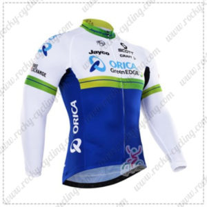 2016 Team ORICA GreenEDGE Cycling Long Jersey Maillot White Blue