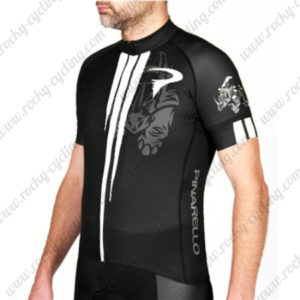 2016 Team PINARELLO Bicycle Jersey Maillot Shirt Black White