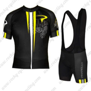 2016 Team PINARELLO Racing Bib Kit Black Yellow