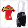 2016 Team RALEIGH Gac Riding Bib Kit Red Yellow