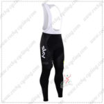 2016 Team SKY Rapha Biking Long Bib Pants Tights Black Yellow