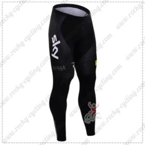 2016 Team SKY Rapha Biking Long Pants Tights Black Yellow