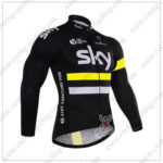 2016 Team SKY Rapha Cycle Long Jersey Maillot Shirt Black Yellow