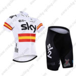 2016 Team SKY Rapha Spain Bike Kit White