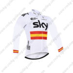 2016 Team SKY Rapha Spain Cycle Long Jersey Maillot White