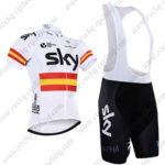 2016 Team SKY Rapha Spain Cycling Bib Kit White