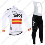 2016 Team SKY Rapha Spain Cycling Long Bib Suit White