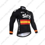 2016 Team SKY Rapha Spain Cycling Long Jersey Maillot Black