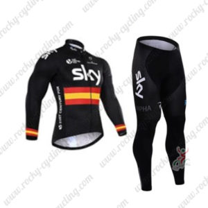 2016 Team SKY Rapha Spain Cycling Long Suit Black
