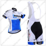 2016 Team Stolting Cycling Bib Kit White Blue