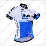 2016 Team Stolting Cycling Jersey Maillot Shirt White Blue