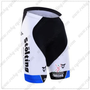 2016 Team Stolting Cycling Shorts Bottoms White Blue