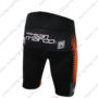 2016 Team TREK Bicycle Shorts Bottoms Black Orange