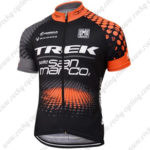 2016 Team TREK Cycle Jersey Maillot Shirt Black Orange