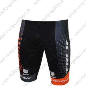 2016 Team TREK Cycle Shorts Bottoms Black Orange