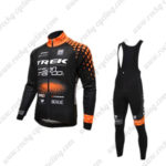 2016 Team TREK San Marco Cycling Bib Suit Black Orange