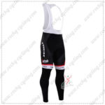 2016 Team TREK Segafredo Cycling Long Bib Pants Tights Black