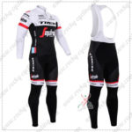 2016 Team TREK Segafredo Cycling Long Bib Suit White Black