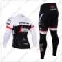 2016 Team TREK Segafredo Riding Long Suit White Black