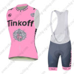 2016 Team Tinkoff Cycling Sleeveless Vest Bib Kit Pink