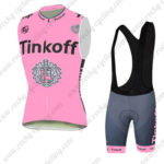 2016 Team Tinkoff Riding Sleeveless Vest Bib Kit Pink