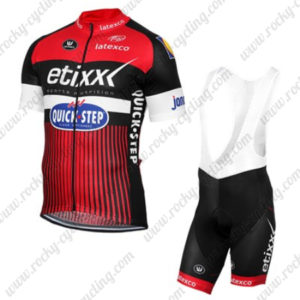 2016 Team etixxl QUICK STEP Cycling Bib Kit Red