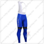2016 Team etixxl QUICK STEP Cycling Long Bib Pants Tights Blue