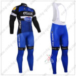 2016 Team etixxl QUICK STEP Cycling Long Bib Suit Black Blue
