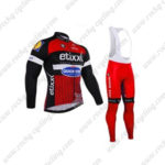 2016 Team etixxl QUICK STEP Cycling Long Bib Suit Red Black