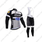 2016 Team etixxl QUICK STEP Cycling Long Bib Suit White Black