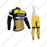 2016 Team etixxl QUICK STEP Cycling Long Bib Suit Yellow Black