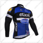 2016 Team etixxl QUICK STEP Cycling Long Jersey Maillot Black Blue