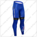 2016 Team etixxl QUICK STEP Cycling Long Pants Tights Blue
