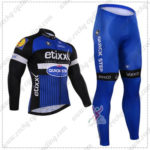 2016 Team etixxl QUICK STEP Cycling Long Suit Black Blue