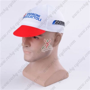 2016 Team ANDRONI GIOCATTOLI SIDERMEC Bicycle Cap Hat White Red