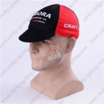 2016 Team BORA ARGON 18 Riding Cap Hat Black Red