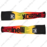 2016 Team Cinelli Cycling Arm Warmers Sleeves Black Red Yellow