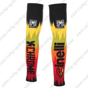 2016 Team Cinelli Cycling Leg Warmers Sleeves Black Red Yellow