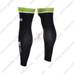 2016 Team Dimension Data Biking Leg Warmers Sleeves Black Green