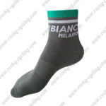 2016 Team BIANCHI MILANO Cycling Socks Grey Green