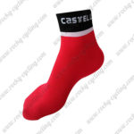 2016 Team Castelli Cycling Socks Red Black