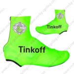 2016 Team Tinkoff Biking Shoes Covers Fluo Green