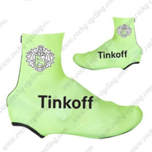 2016 Team Tinkoff Biking Shoes Covers Light Green